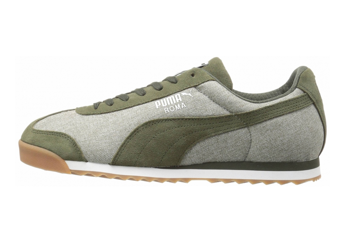 Puma Roma Denim Burnt Olive/Forest Night