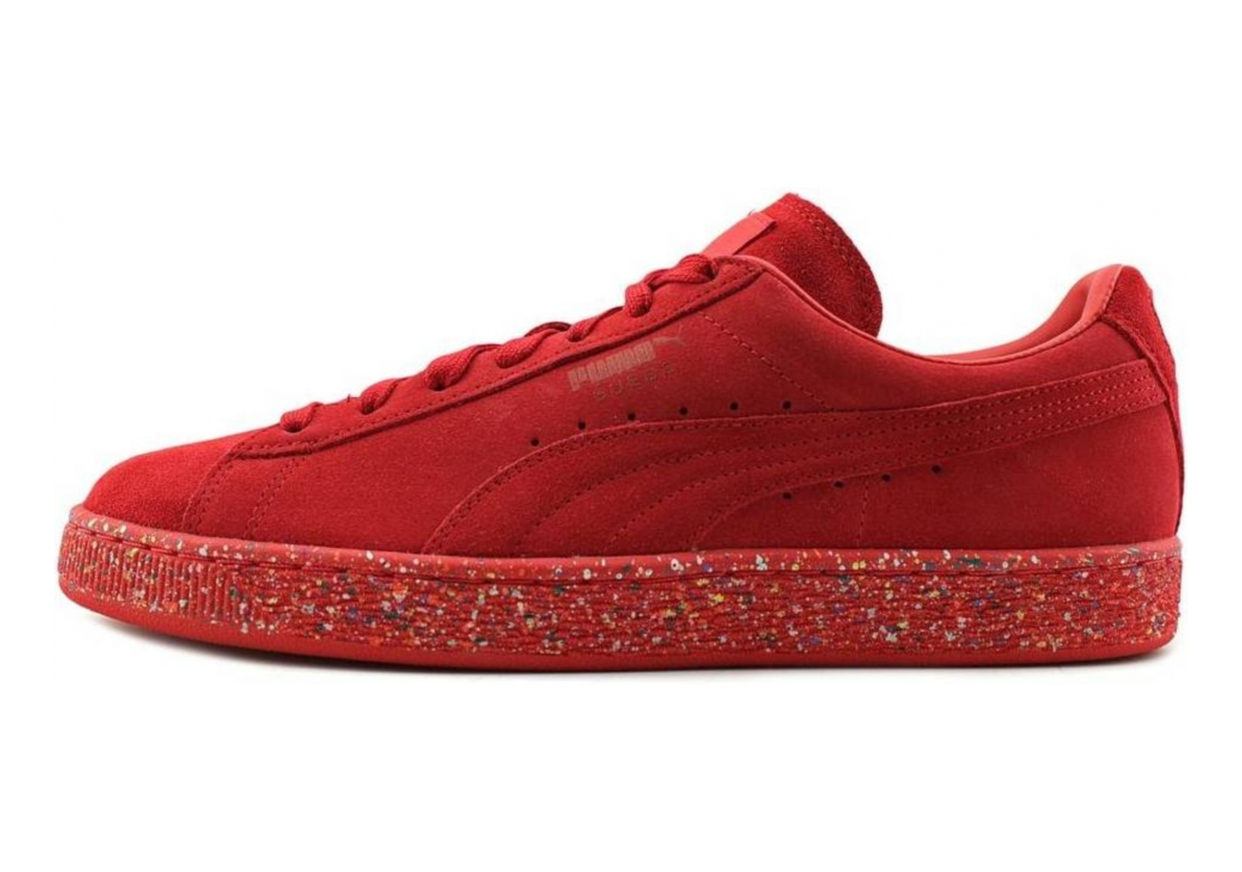 Puma Suede Classic Multi Splatter High Risk Red