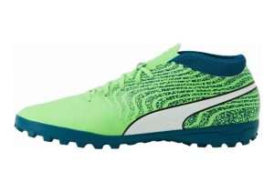 Puma One 18.4 Turf Green Gecko-puma White-deep Lagoon