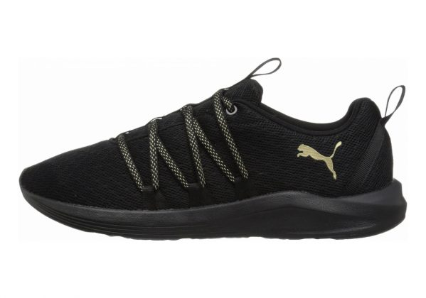 Puma Prowl Alt Knit Mesh Puma Black-metallic Gold