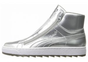 Puma Basket Winter Mid Silver/ White
