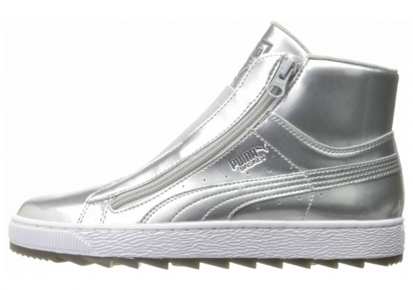 Puma Basket Winter Mid Silver/ White