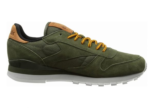 Reebok Classic Leather OL Green (Poplar Green/Steel/Semi Solar Gold/Ginger/Power Red)