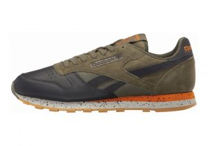 Reebok Classic Leather SM Hunter Green/Lead/Brght Orng/Skgry-gum