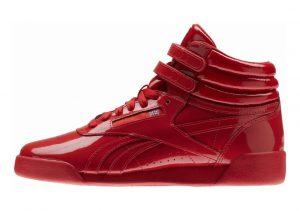 Reebok Freestyle Hi Patent Rojo