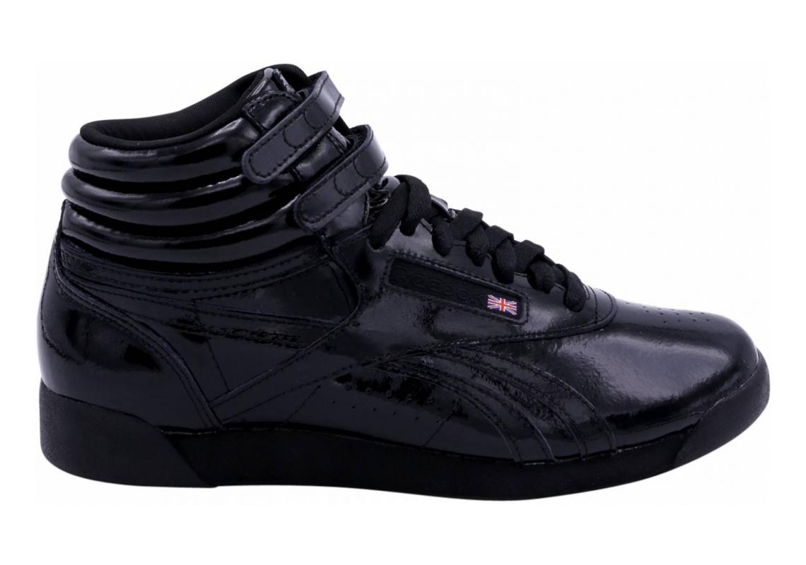 Reebok Freestyle Hi Patent Black