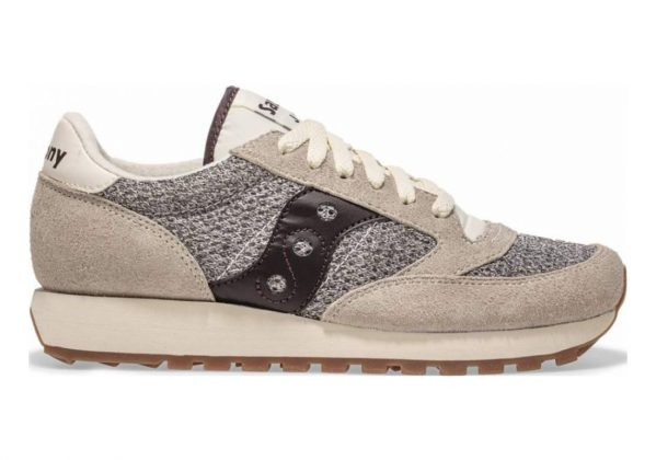 Saucony Jazz Original Knit White | Brown