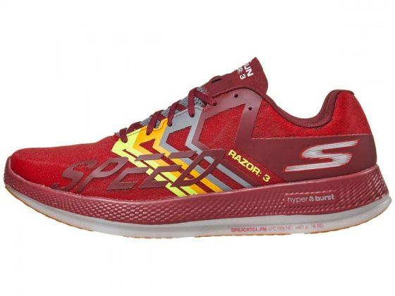 Skechers GOrun Razor 3 Hyper Unisex Shoes Red Orange