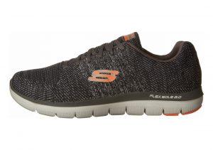Skechers Flex Advantage 2.0 - Missing Link Charcoal/ Orange