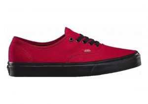 Vans Black Sole Authentic Red