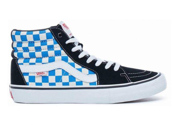 Vans Checkerboard SK8-Hi Pro Black/ Victorian blue