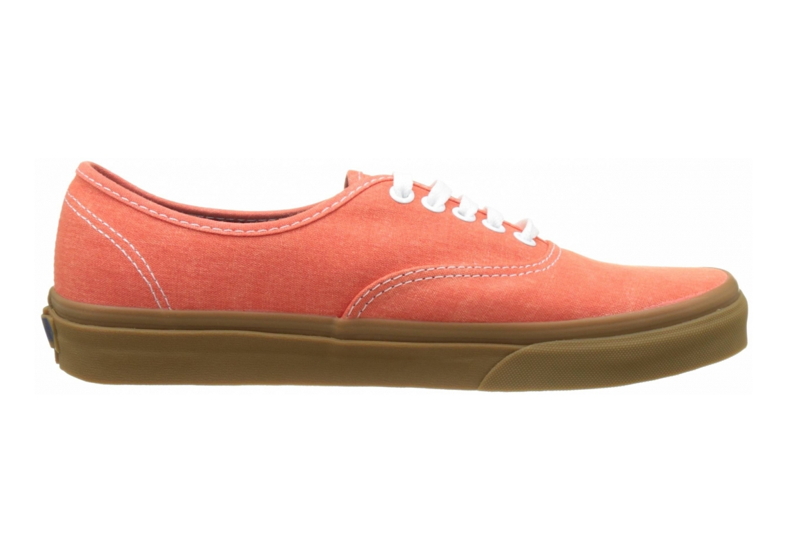 Vans Washed Canvas Authentic Orange (Washed Canvas Cherry Tomato/Gum)