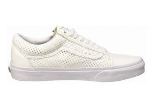 Vans Leather Old Skool Zip True White