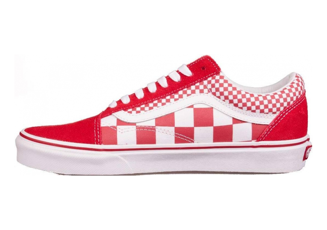 Vans Mix Checker Old Skool Chilli Pepper White