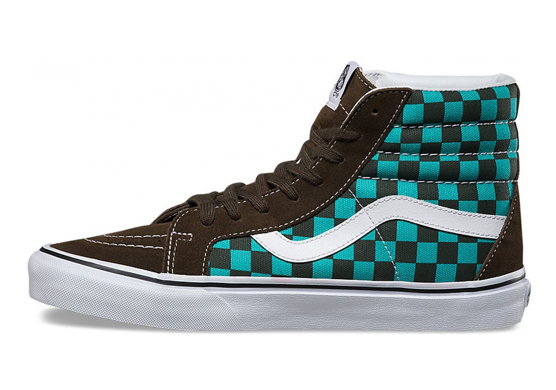 Vans Checkerboard SK8-Hi Reissue Green