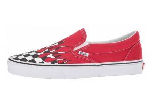 Vans Checker Flame Slip-On Red