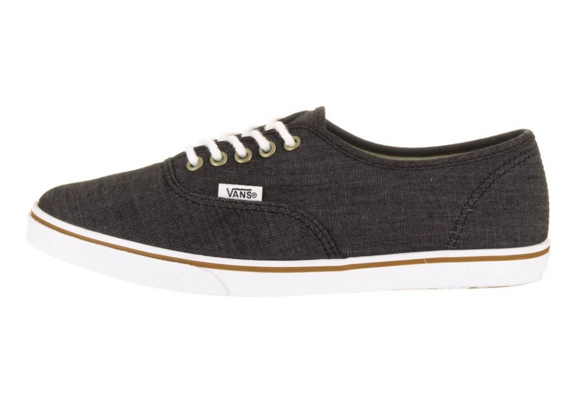Vans Chambray Authentic Lo Pro Black/True Wht