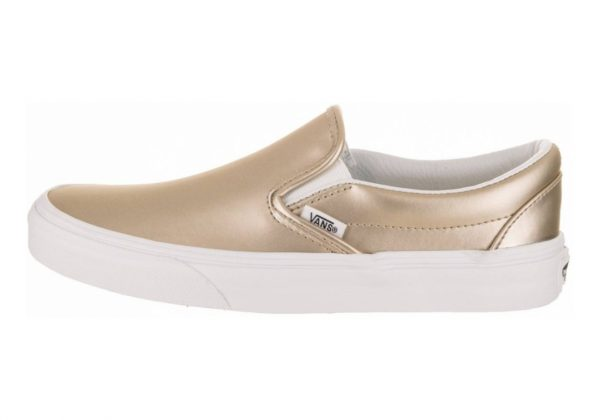 Vans Muted Metallic Slip-On Gold