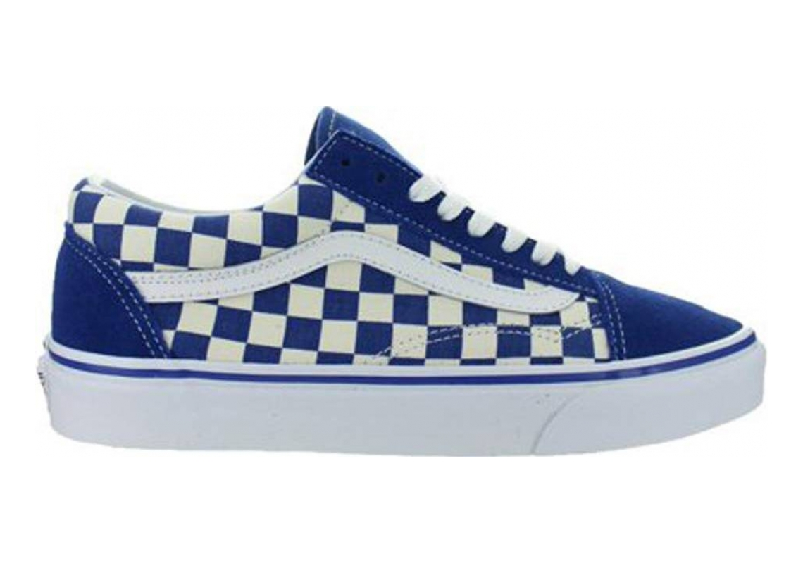 Vans Primary Check Old Skool True Blue/White