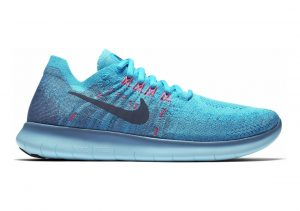 Nike Free RN Flyknit 2017 Blau (Work Blue / Dark Obsidian / Chlorine Blue 400)