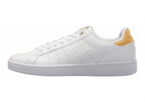 K-Swiss Clean Court CMF White/Bright Gold