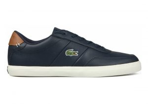 Lacoste Court-Master Navy Brown Leather