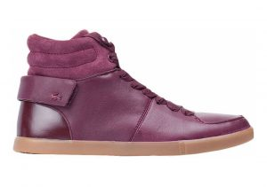 Lacoste High-top Leather and Suedette Corlu Trainers Dark Burgundy