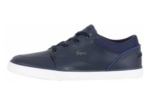 Lacoste Bayliss Leather Trainer  Navy