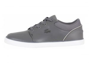 Lacoste Bayliss Leather Trainer  Grey