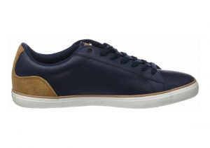 Lacoste Lerond Leather Blue (Nvy/Lt Brw)
