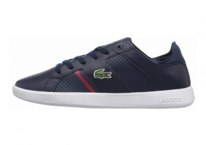 Lacoste Novas CT Leather Azul (Nvy/Red)