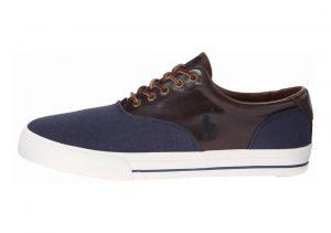 Polo Ralph Lauren Vaughn Saddle Indigo Blue/Polo Tan