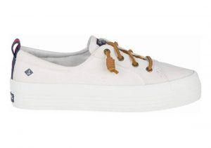 Sperry Crest Triple White