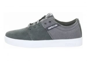 Supra TK Low Stacks Skate Charcoal Suede/Canvas