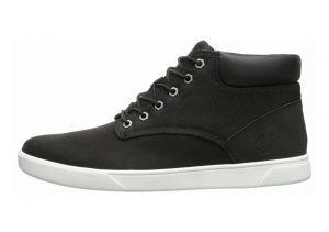 Timberland Groveton Plain-Toe Chukka Shoes Black/Canvas