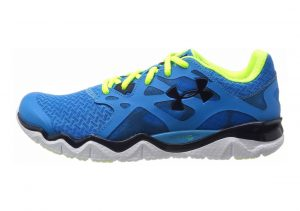Under Armour Micro G Monza Blue - Blau (Electric Blue / High-Vis Yellow /  / Academy 429)