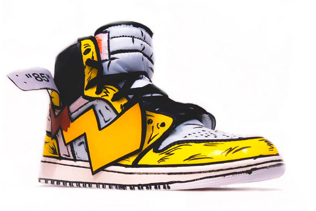 Nike Air Jordan 1 Off White Detective Pikachu