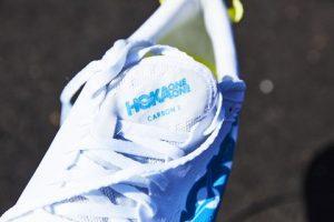Hoka One One Carbon X White Blue