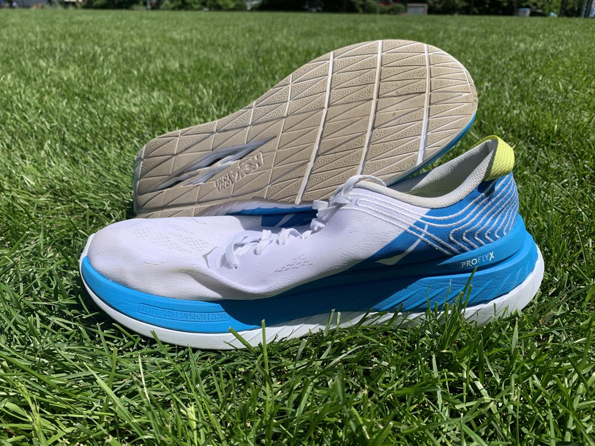 Hoka One One Carbon X White Blue
