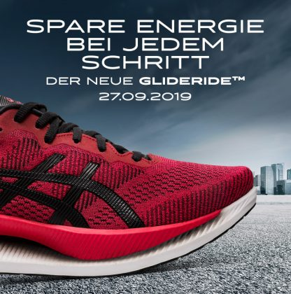 Asics Glideride Feature Speed Red Black