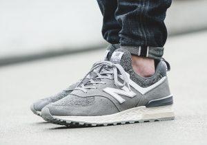 New Balance 574 Sport Grey Suede