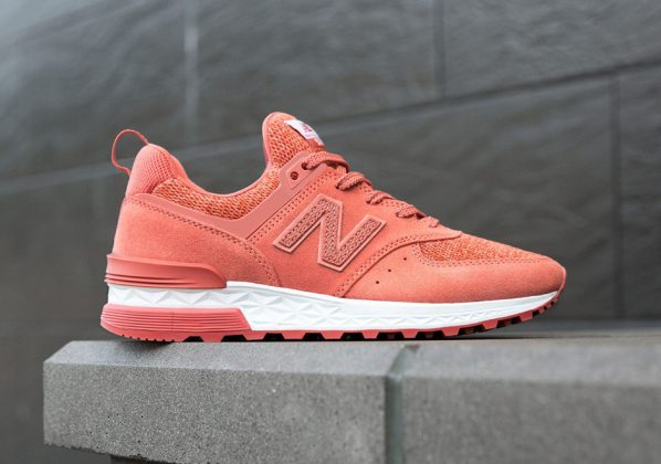 New Balance 574 Sport Suede Copper Rose Available