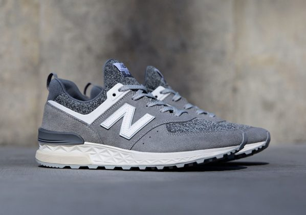 New Balance 574 Sport Suede Grey Available