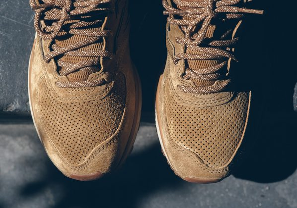 New Balance 574 Sport Tan Olive Suede