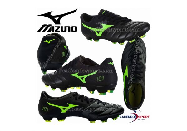 Mizuno Basara 101 K-leather Firm Ground black/greengecko