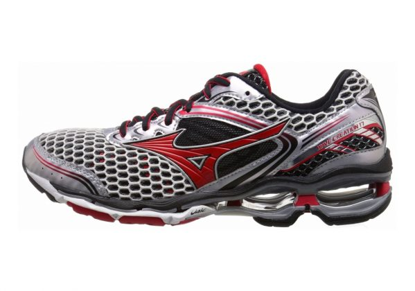 Mizuno Wave Creation 17 Silver/Chinese Red