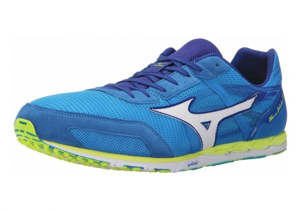 Mizuno Wave Ekiden 10 Dude Blue/White