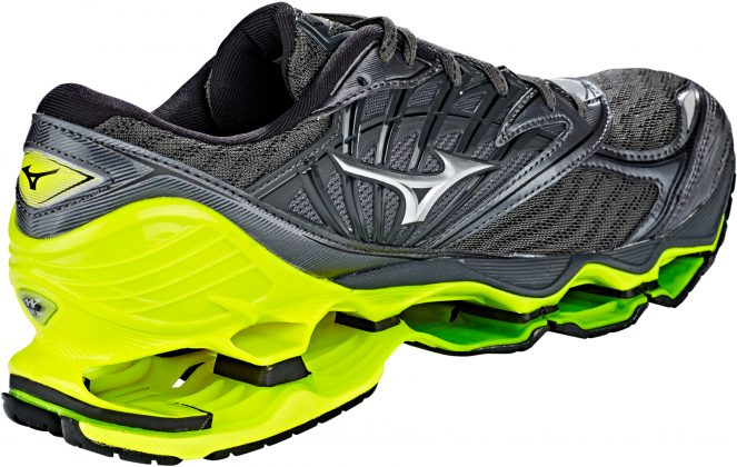 Mizuno Wave Prophecy 8 Dark Shadow Silver Safety Yellow