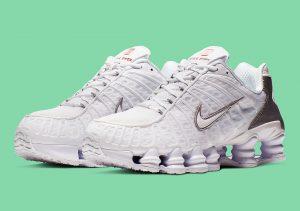 Nike Shox TL White Silver