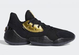 adidas Harden Vol 4 Core Black/Gold Metallic/Core Black